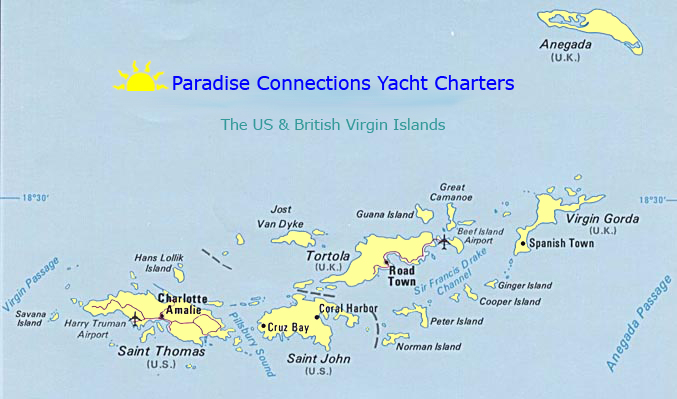 map of the us british virgin islands