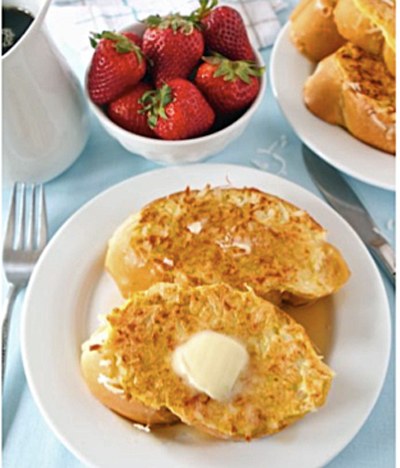 Entrees - Coconut Crusted French Toast